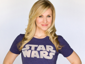 Ashley Eckstein, voice of Ahsoka Tano.
