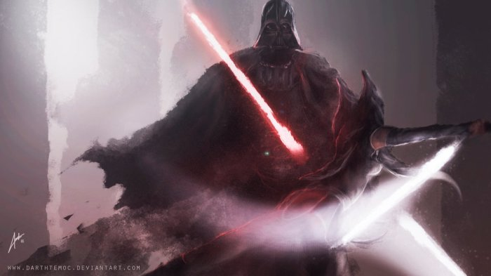 Darth Vader vs Ahsoka Tano (Image credit: DarthTemoc)