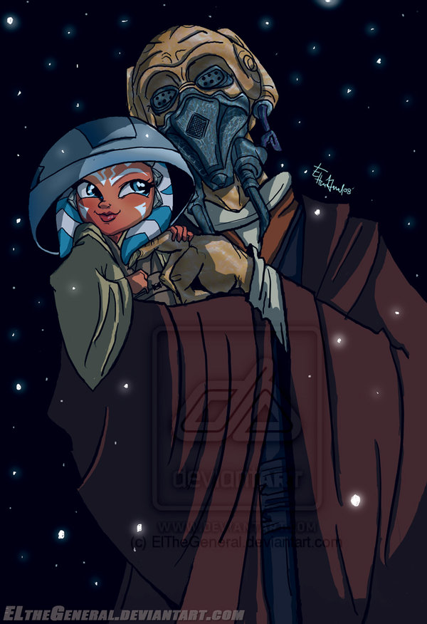 """Plo Koon Finds Little Ahsoka"" (Image credit: ElTheGeneral)"