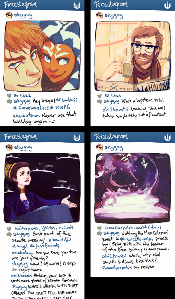 """Star Wars Instagram AU"" (Image credit: Shorelle)"
