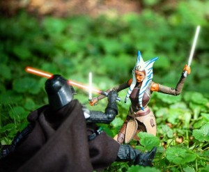 Ahsoka Tano and Darth Vader face off in this photo by dpettine2