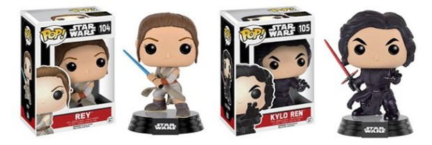 Two of the figures that will be part of Funko's next wave of Star Wars Pop! figures