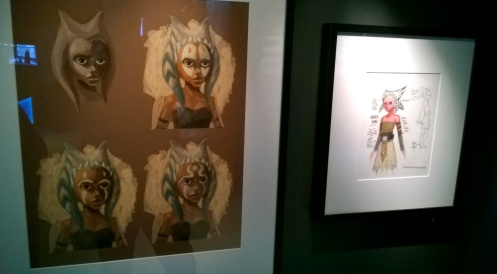 Ahsoka Tano display at Star Wars: Identities