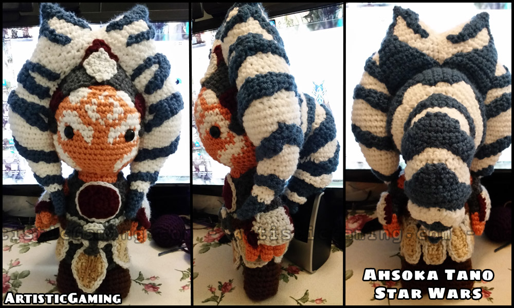 Free Crochet Star Wars Doll Patterns : 5 Adorable Ahsoka Tano Crochet Figures Team Ahsoka