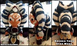 Ahsoka Tano amigurumi doll by ArtisticGaming