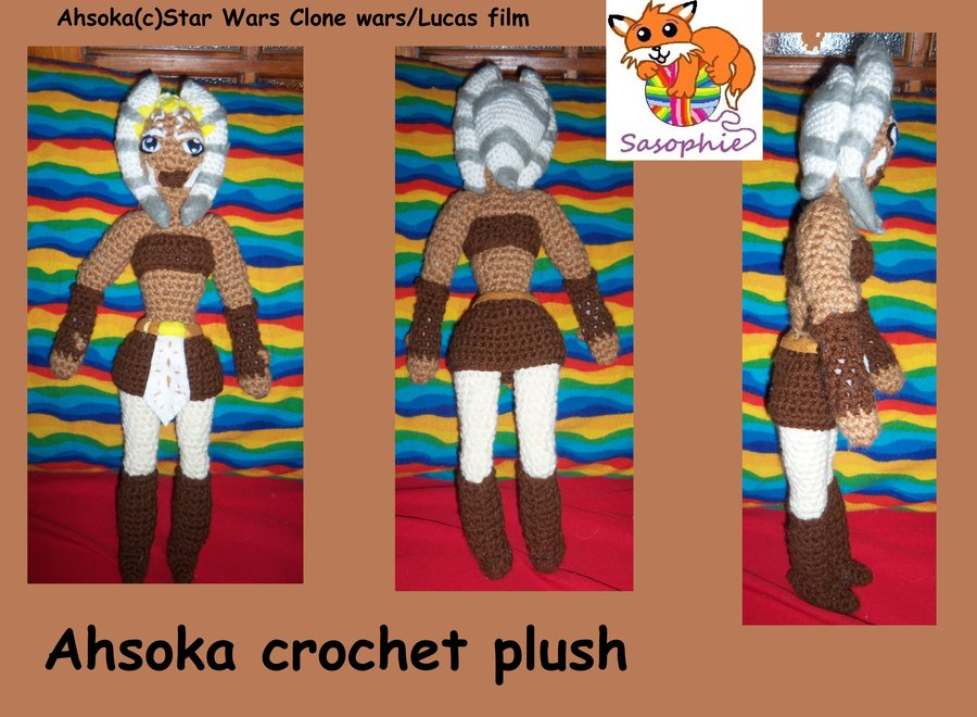 Ahsoka Tano crochet plushie by Sasophie