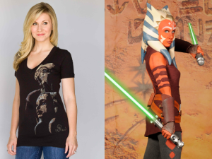 Ashley Eckstein as herself...and cosplaying as Ahsoka Tano