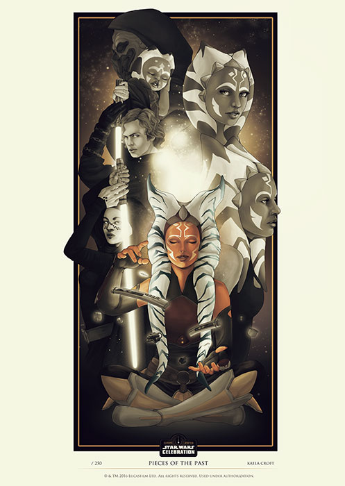 Star Wars Shaak Ti Limited Edition Convention Poster Art Print