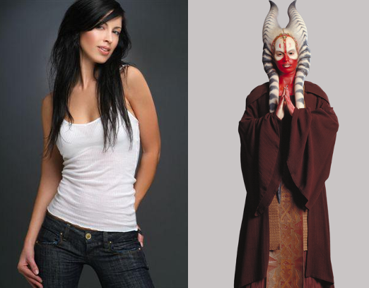 Orli Shoshan as herself and as Jedi Master Shaak Ti