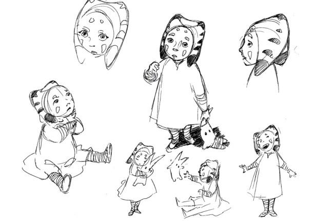 Ahsoka Tano as a young girl