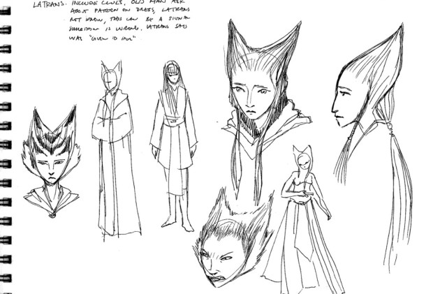Latrans, a character conceived by Dave Filoni for a possible storyline
