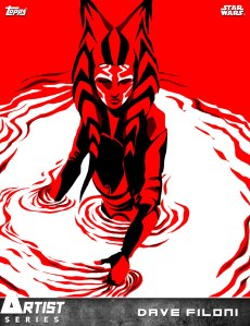 Ahsoka artwork created by Dave Filoni for Topps' Star Wars: Card Trader app