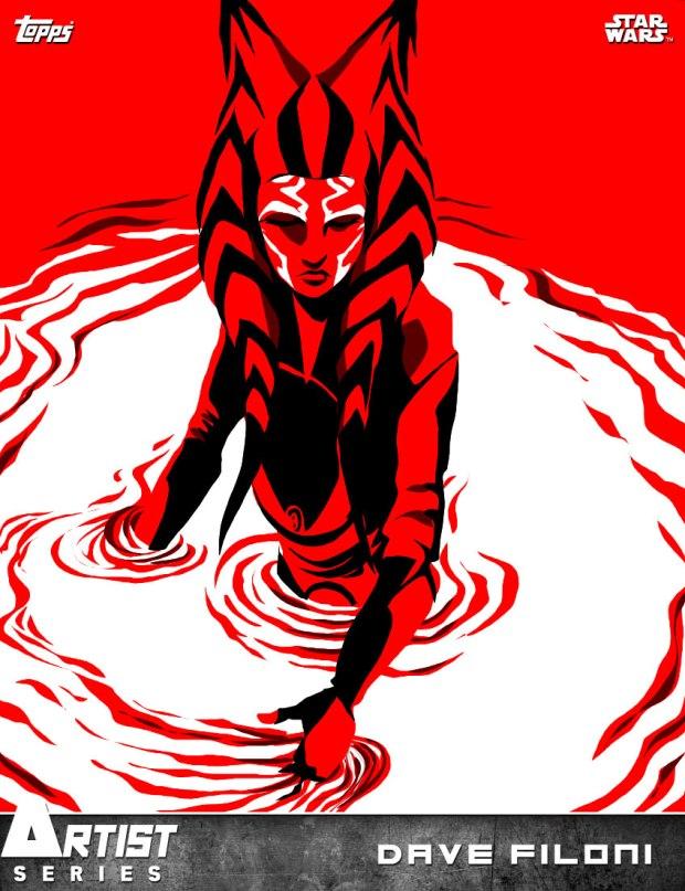 Ahsoka artwork created by Dave Filoni for Topps' Star Wars: Card Trader app