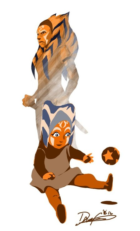 Ahsoka, from toddler to Padawan