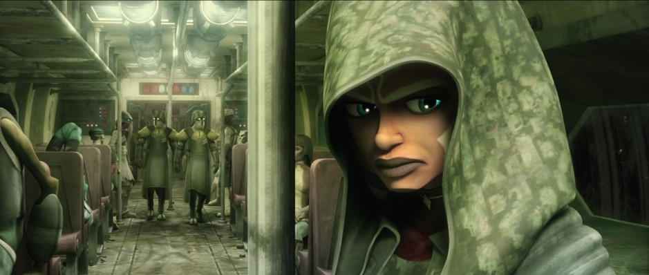 Ahsoka sought refuge in the lower levels of Coruscant in the season 5 finale arc (Image credit: Cap-That)