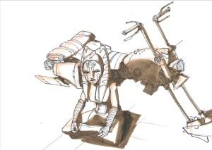 Ahsoka and her new speeder bike