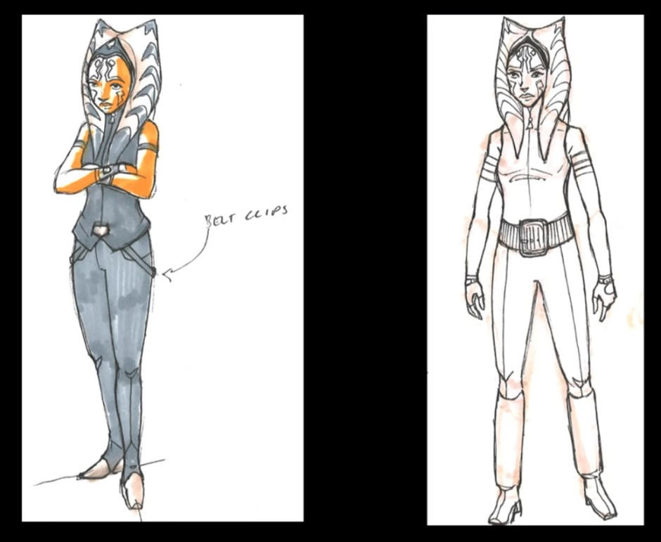 Some costume designs Dave Filoni had worked on for this story arc (Image credit: Dave Filoni)