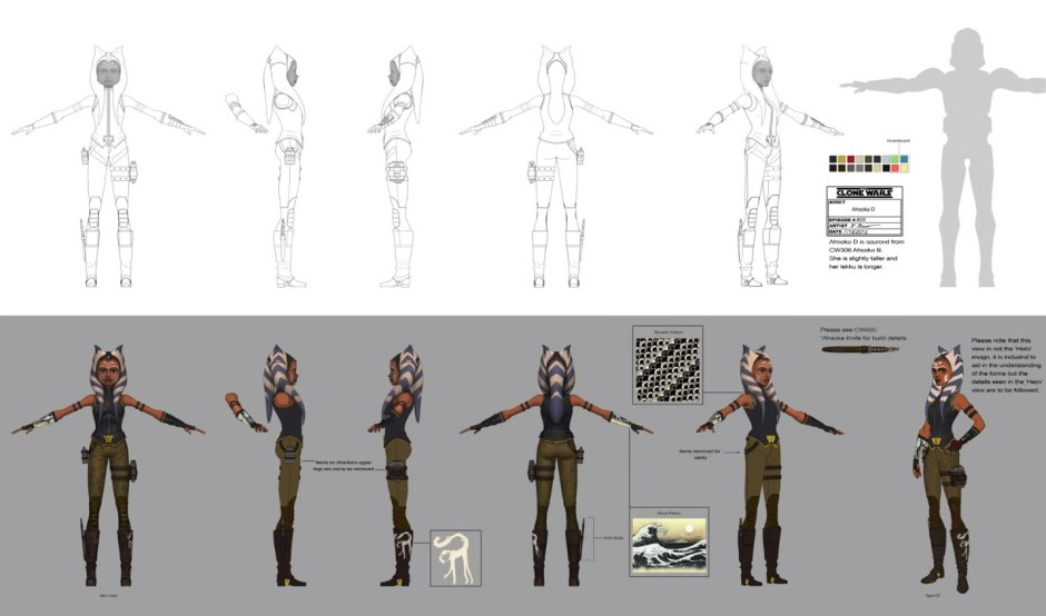 Ahsoka's so-called speeder bike costume (Image credit: Lucasfilm Animation)