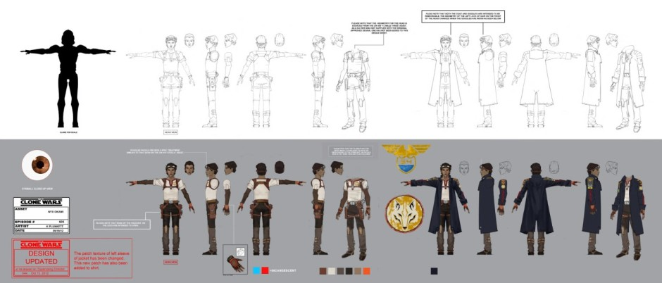 A look at Nyx Okami's costume design (Image credit: Lucasfilm Animation)