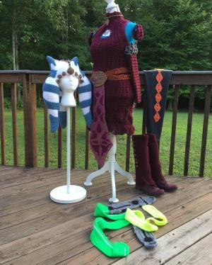 Candice Dunlap's Yarnsoka costume