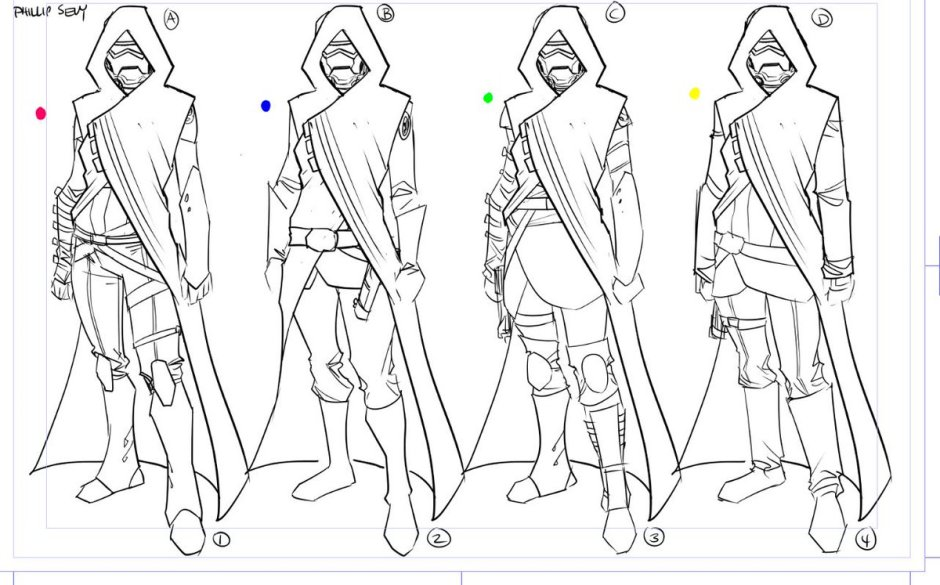 Concept art for a mysterious cloaked figure. Is it someone we know? (Image credit: Phillip Sevy)