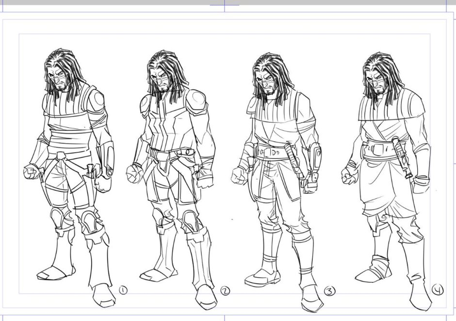 Character designs for Quinlan Vos (Image credit: Phillip Sevy)