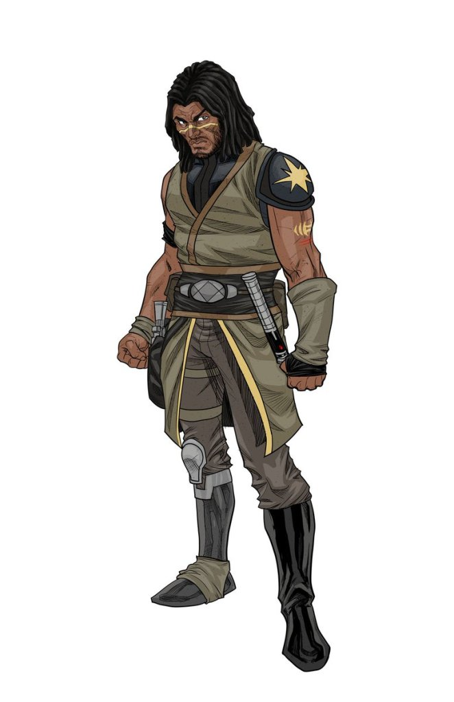 The final character design for Quinlan Vos. (Image credit: Phillip Sevy)