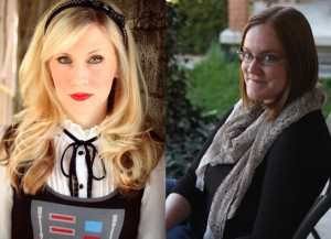 Actress Ashley Eckstein (left) and author E.K. Johnston (right)