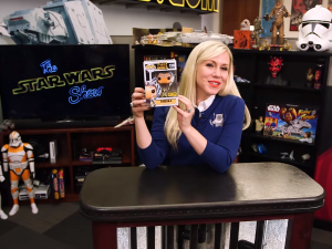 Ashley Eckstein unboxes the Ahsoka Funko Pop! vinyl figure on The Star Wars Show