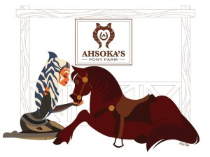 "Ashley Taylor's banner for Ashley Eckstein's ""Ahsoka's Pony Farm"" birthday party"
