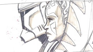 Rex and Ahsoka fighting alongside each other in the Siege of Mandalore (Image credit: Dave Filoni)
