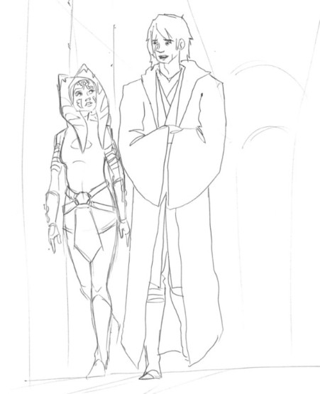 Anakin and Ahsoka reunited one last time before the end of the war (Image credit: Dave Filoni)