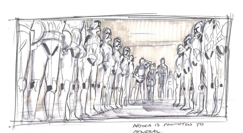 Anakin giving Ahsoka command of half of the 501st (Image credit: Dave Filoni)