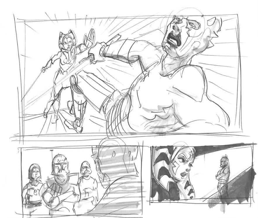 Ahsoka takes on Maul on Mandalore (Image credit: Dave Filoni)