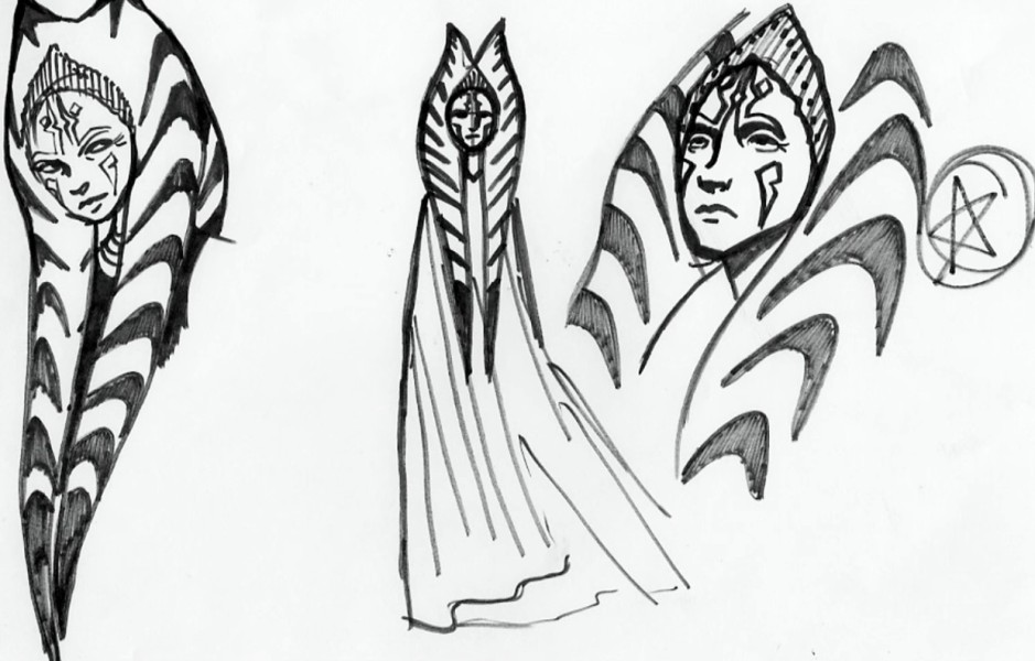 More sketches of an older Ahsoka Tano (Image credit: Dave Filoni)