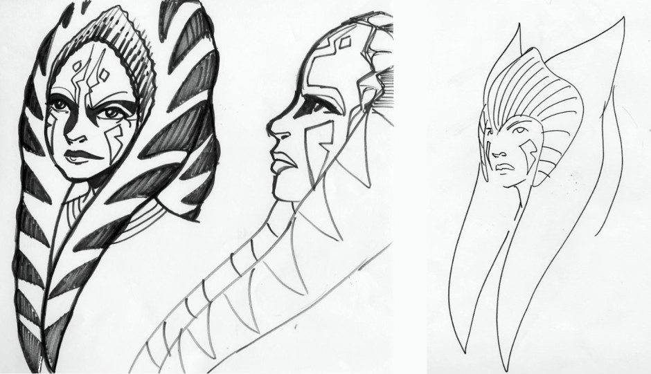 Filoni spent a lot of time trying to figure out what an older Ahsoka would look like (Image credit: Dave Filoni)