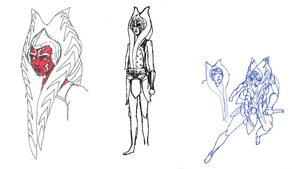 Traditional Japanese samurai attire influenced Ahsoka's costume in Rebels (Image credit: Dave Filoni)