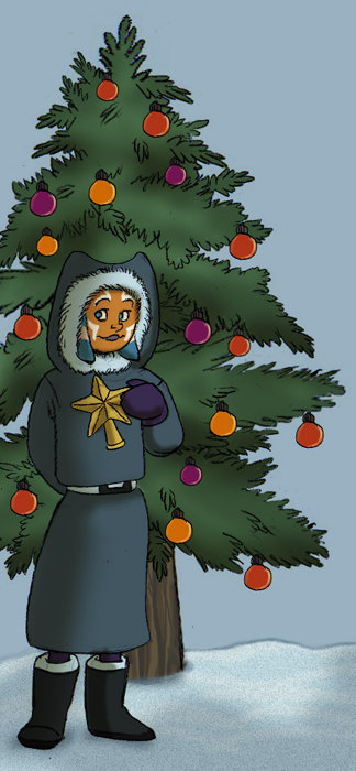 """Ahsoka and Christmas Tree"" by Pile of Sith"