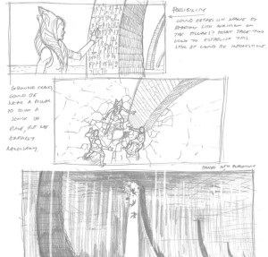 Sketches from Filoni's notebook for 'Twilight of the Apprentice' (Image credit: Dave Filoni)