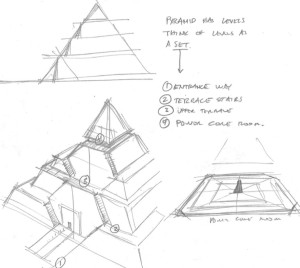 Sketch of the Sith temple on Malachor (Image credit: Dave Filoni)