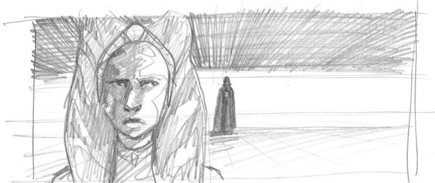 The shadow of Vader looms in the background (Image credit: Dave Filoni)