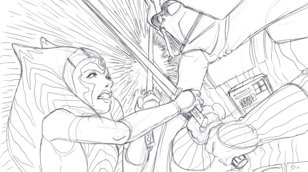 Ahsoka and Darth Vader duel to the death (Image credit: Dave Filoni)