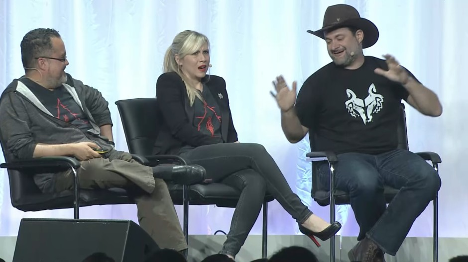Ashley Eckstein's face says it all...