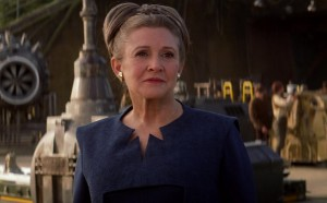 The late Carrie Fisher as General Leia Organa in the 2015 film The Force Awakens