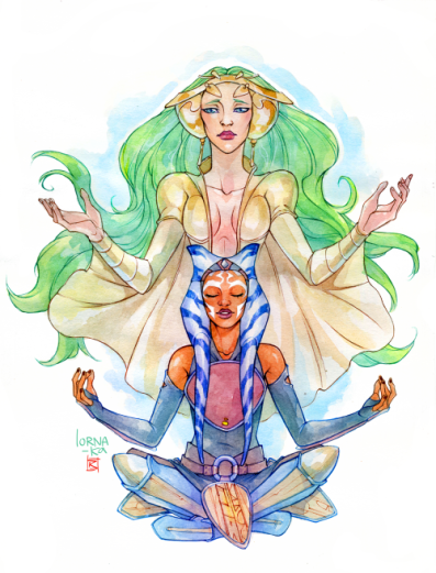 'Ahsoka and the Daughter' by Lorna-ka/Ksenia Z