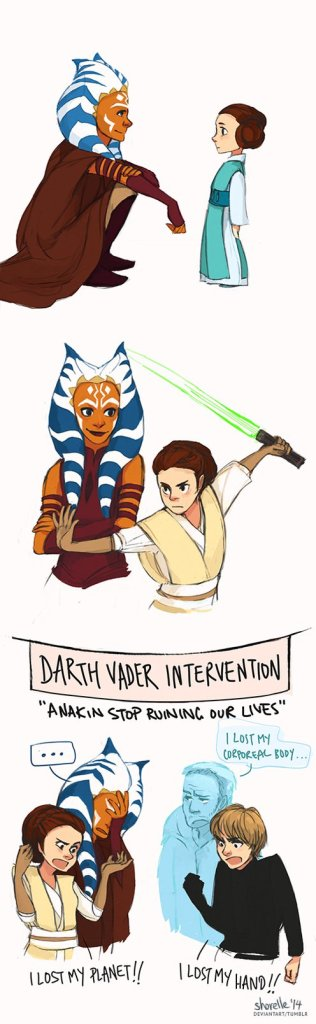 """Ahsoka and Leia AU"" (Image credit: Shorelle)"