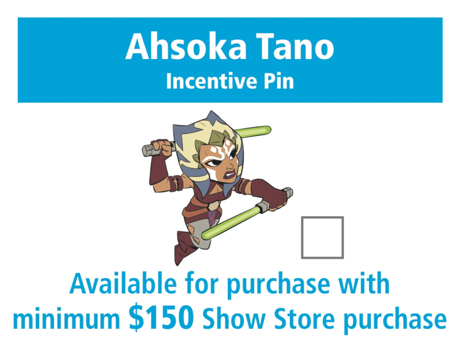 Star Wars Celebration Orlando Ahsoka Tano trading pin