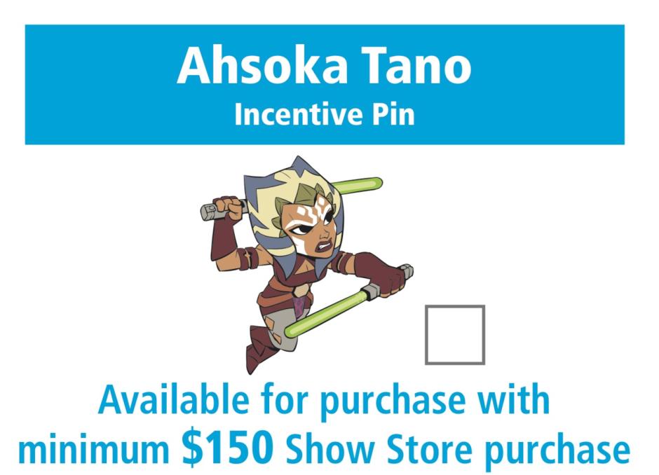 Star Wars Celebration Orlando Ahsoka Tano trading pin
