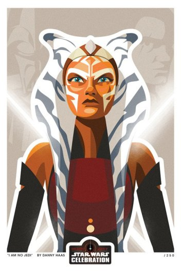 Ahsoka Tano Artwork At Star Wars Celebration Orlando