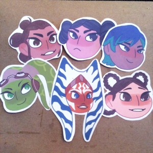 'Star Wars Girls Stickers' by Elijah Volf